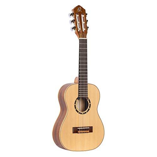 Ortega Guitars R121-1/4 Konzertgitarre in 1/4 Größe natur im seidenmatten Finish mit hochwertigem Gigbag