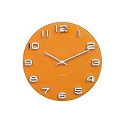 Karlsson Wall Clock, Curry Yellow, One Size