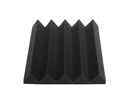 EsportsMJJ Akoestische Wedge Studio akoestisch schuim tegels geluidsabsorptieplaat 9,8 x 9,8 x 1,9 inch, zwart, 1