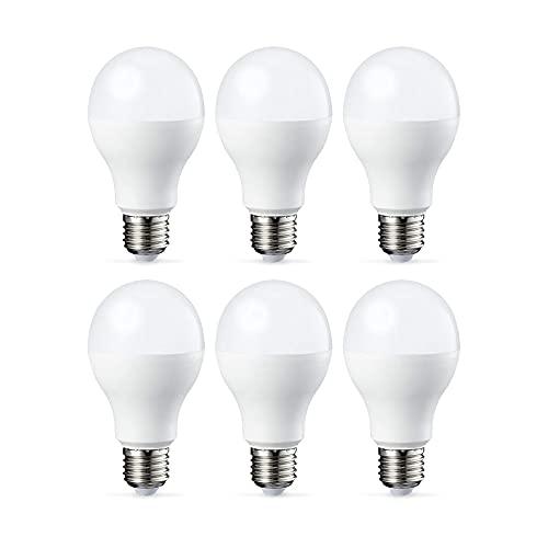 Amazon Basics Lampadina LED E27, 14W (equivalenti a 100W), Luce Bianca Fredda - Pacco da 6