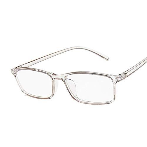 NJJX Gafas De Ordenador Con Montura Cuadrada Para Miopía, Gafas Ópticas Para Mujer, Gafas Antiazules, Cómodas, Ligeras, Transparentes, Color Transgray