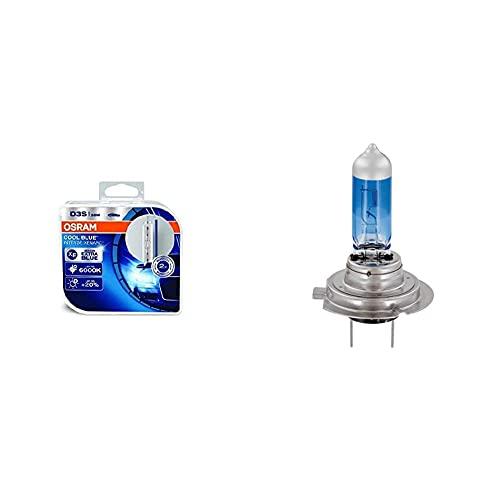 OSRAMFaro Allo Xeno Xenarc Cool Blue Intense D3S Hid, Lampada A Scarica, 66340Cbi-Hcb, Duobox (2 Pezzi) & 62210Cbb Cool Blue Boost H7, Lampadina Alogena Iper Blu Per Faro ,12 V, Duobox (2 Unità)