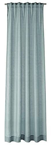 Joop! Living - Tenda con passanti nascosti, decorazione Allover colore blu/grigio, dimensioni 130 x 250 cm, semitrasparente