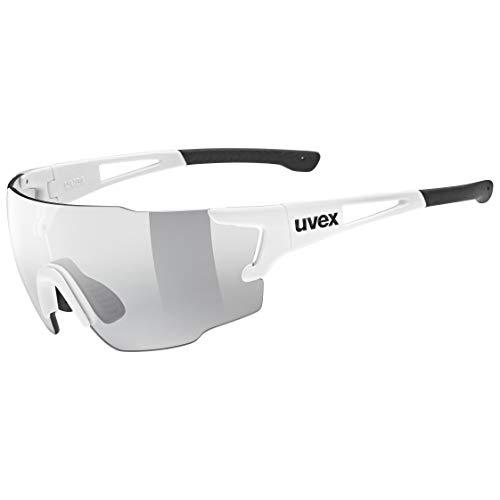 uvex Unisex– Erwachsene, sportstyle 804 V Sportbrille, selbsttönend, white/smoke, one size