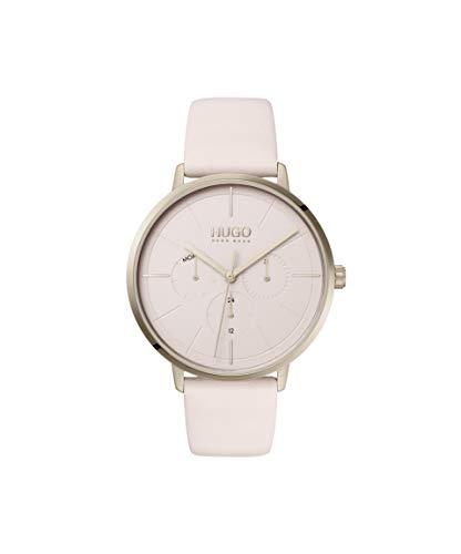 HUGO Damen Analog Quarz Uhr mit Leder Armband 1540051