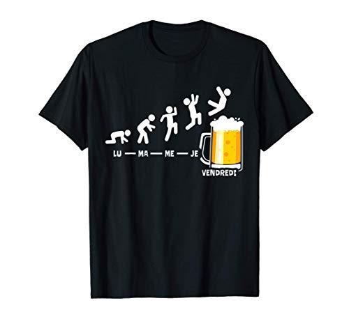 Bière Semaine Vendredi Week-end Fin De La Biere Cadeau T-Shirt