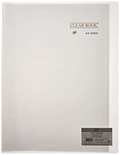 Pasta Catálogo Clear Book, A3, YES, A320BSCR, 20 Sacos, Cristal