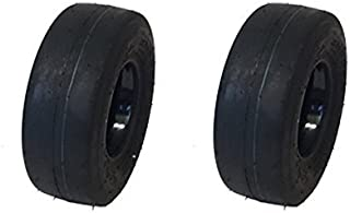 MowerPartsGroup (2) Puncture Resistant 11x4.00-5 Smooth Tires with Liner Gravely Toro Scag Hustler