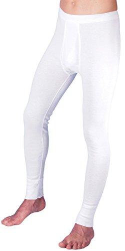 HERMKO 3540 2er Pack Herren Lange Unterhose Long Johns (Weitere Farben) Bio-Baumwolle, Größe:D 6 = EU L, Farbe:weiß