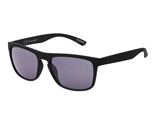 Jack & Jones UV400 CAT 3 - Gafas de sol polarizadas para hombre Negro (cristales: negro ligeramente tintado). Talla única