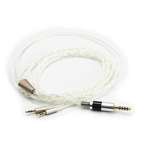 Ablet HiFi-Kabel mit 4,4 mm symmetrischem Stecker auf 2,5 mm Dual-Stecker, kompatibel mit Hifiman HE400S, HE-400I, HE560 HE1000 Kopfhörer und kompatibel mit Sony WM1A, NW-WM1Z, PHA-2A