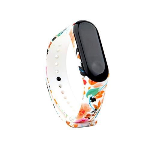 40 correa de reloj de silicona suave colorida para Xiaomi Mi band 4 band 3 reloj inteligente flor impresa pulsera accesorios de pulsera