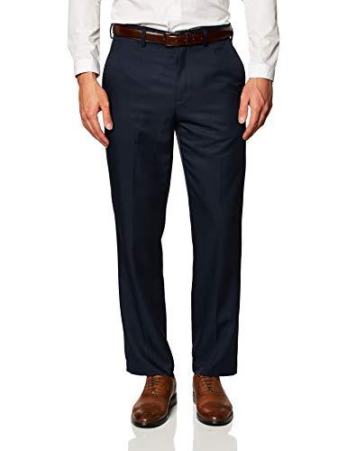 Amazon Essentials Slim-Fit Flat-Front Dress Pants Pantaloni, Marina Militare, W32 / L32