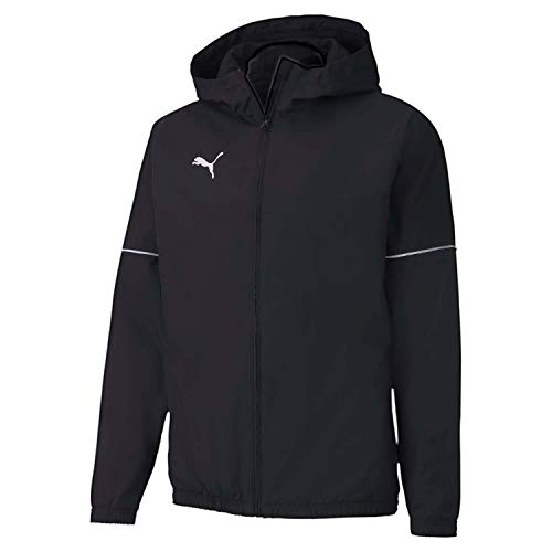 PUMA Herren teamGOAL Rain Jacket Core Regenjacke, Black White, XL