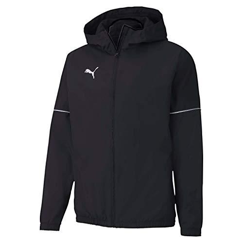 PUMA Teamgoal Rain Jacket Core Chaqueta Impermeable, Hombre, Black White, S