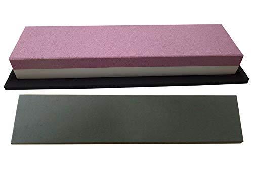 scherenkauf Messer-Schärf-Set / 3L / Schleifstein Korund FEPA 120/280 + behandeltes Abziehleder