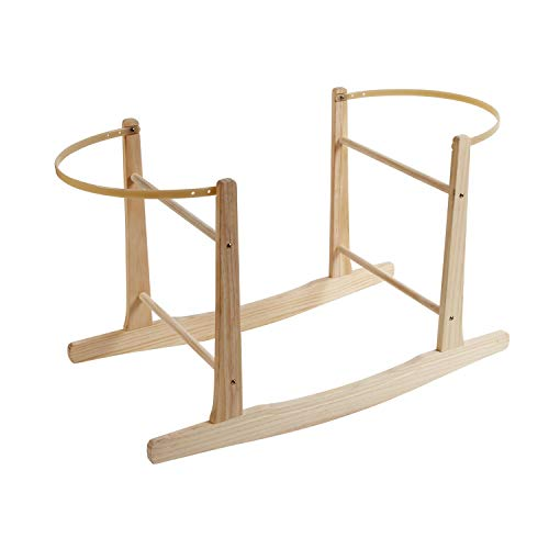 Clair de Lune Wooden Rocking Moses Basket Stand (Natural)