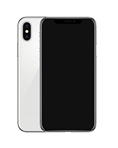 Dummy-Display gefälschte Telefon Metallic-Modell nicht funktionierende Replik Telefon für Phone X 10 (Silber Schwarz-Bildschirm)