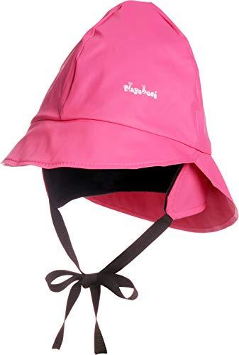 Playshoes Baby Regen-Mütze, wind- und wasserdichte Unisex-Mütze für Jungen und Mädchen mit Fleecefutter, mit Playshoes-Motiv, Rosa (18 pink), 53 cm