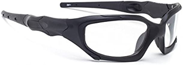 Transitions Safety Glasses in Black Wraparound Frame