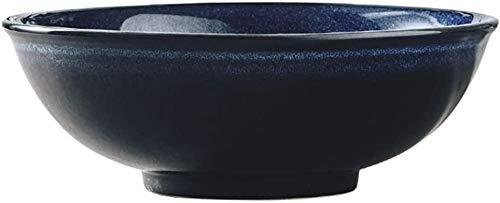 XUEXIU New Wave Soup Plate Grand Bol Bol De Céréales Japonaise Ramen Bowl Creative Saladier Crème Glacée Dessert Soup Bowl Céramiques À Usage Domestique Perfect for Catering and Home