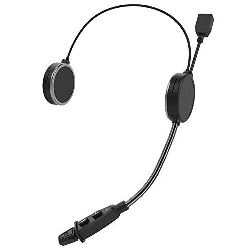 XBJSY E300 Bluetooth 4.2 Casco De Motociclista Casco Auriculares Intercom Auriculares AUX 40MM Altavoz 2 Dispositivos Móviles Conexión GLZERJ