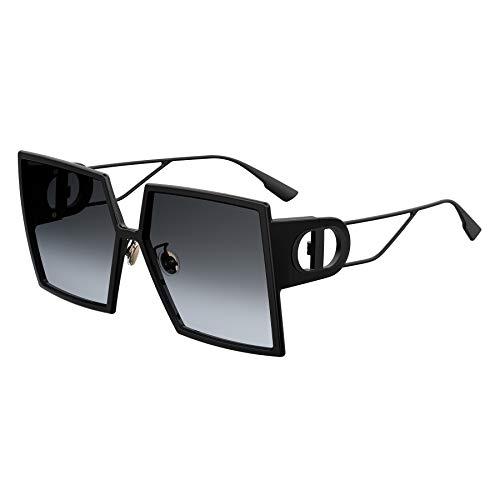 Auténtico Christian Dior 30Montaigne 0807/1I Gafas de sol negras, Lens-58 Bridge-15 Temple-135