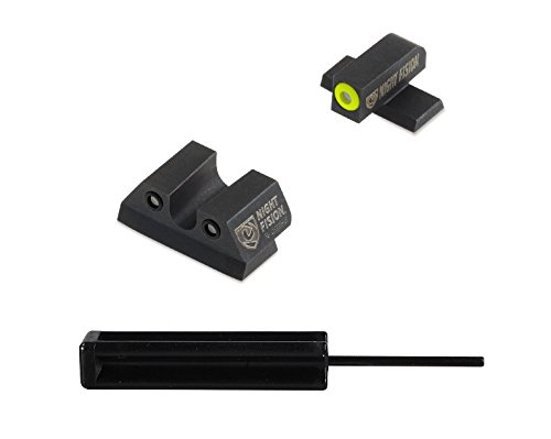 Fantastic Prices! Ultimate Arms Gear Night Fision Sight Set, Yellow Outline Green Tritium Front + Bl...