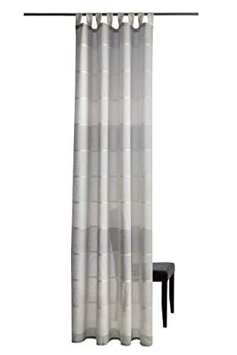 Homing Vorhang Lennardt Schlaufenschal (1 Stück) Leinen Optik Blockstreifen H/B ca. 255/140 cm beige