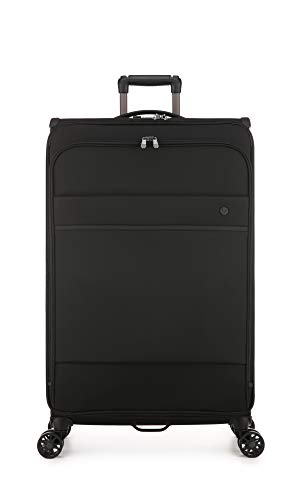Antler Stirling Soft Suitcase | Extra Large Suitcase | Black Suitcases Large | Luggage Bags for Travel | Smart Suitcase | Soft Shell Suitcase | Travel Suitcase | Spinner Suitcase