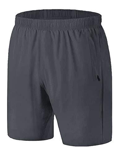 iClosam Short de Sport Homme Casual Shorts Pant Court de Fitness/Beach/Running/Casual Bermudas Respirant Séchage Rapide Slip