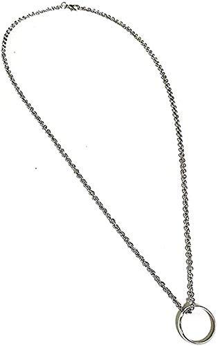 Ahuyongqing Co.,ltd Collar Collar Anillo Anillo Colgante Collar Mujeres Cadena Colgante para Mujeres Hombres
