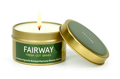 Fairway Premium Candles for Sports Lovers   All Natural Scented Vegan Soy Wax   Hand Poured in the USA   Golf-theme, Fairway   Fresh Cut Grass   6 oz