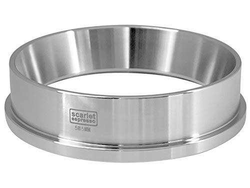 scarlet espresso | Precisie-trechter »Barista Cono Livello 58,5 mm « van roestvrij staal voor zeefdragers, doseerradio vultrechter voor koffiemeel zilver