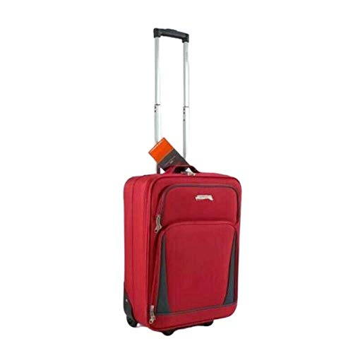 32' Extra Large Super Lightweight Durable Hold Travel Luggage Trolley Suitcase (Red, 26)