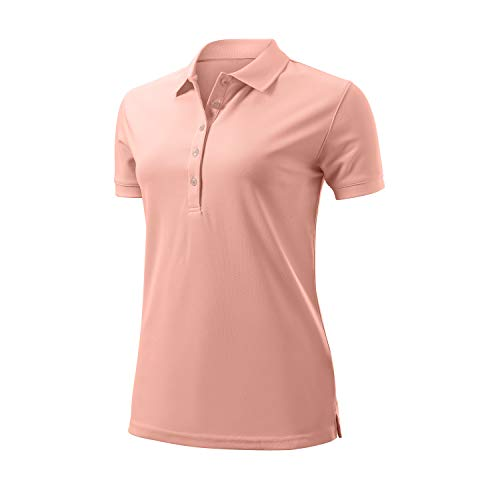 Wilson Femme, Polo de Sport, AUTHENTIC POLO, Polyester, Rose, Taille M, WGA700625
