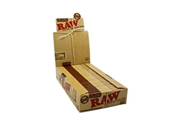 RAW Organic Unbleached 1 1/4 Rolling Papers - 5 Pack