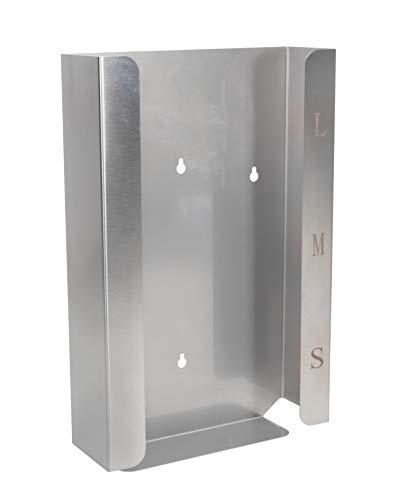 Medi-Inn Edelstahl-Handschuhhalter | Edelstahlspender für Einmalhandschuhe | 3-fach schmale Variante - für 3 Handschuhboxen