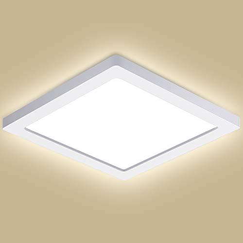 Oeegoo LED Deckenleuchte, Flimmerfreie Deckenlampe 24W 2040lm (150W Glühlampe Ersatz), 13mm Ultraslim Einbauleuchte, Led Bürodeckenleuchte Flach, Flurlampe, Wohnzimmerlampe Neutralweiß 4000K