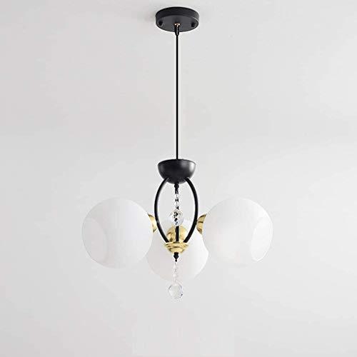 SPNEC Lámpara de Hierro Forjado, Cristal de Mesa Dormitorio Sala Sala de Estudio Colgante Colgantes de Hierro Forjado artefacto de iluminación
