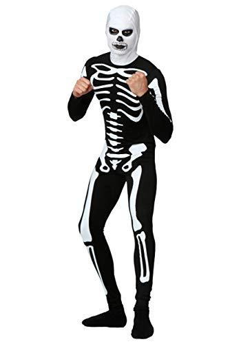 Karate Kid Skeleton Costume Suit - L Black,White