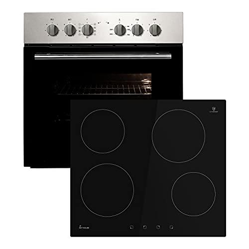Juego de cocina KKT KOLBE: horno empotrado de 60cm con vitrocerámica sin marco de 59cm / convección/grill/extracción telescópica/limpieza a vapor / SET6007ED