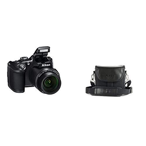 Nikon Coolpix B500 Fotocamera Digitale Compatta, 16 Megapixel, Zoom 40X, ISO 125, 6.400, VR, LCD Inclinabile 3quot & CS P08 Custodia per Coolpix Bridge Serie P500, P100, L120, L110, Nero