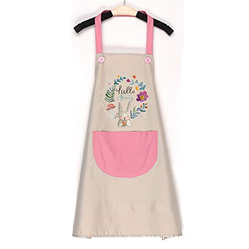 Duschvorhang Kitchen Oil-Resistant Apron with Pockets Professional Stripe Chef Apron for Cooking, Grill and Baking K45