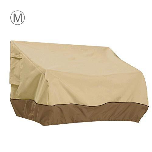 Lounge beschermhoes afdekhoes voor tuinmeubelen tuinbank beschermhoes afdekzeil waterdicht stofdicht UV-bestendig sofahoes ultralicht Medium bruin