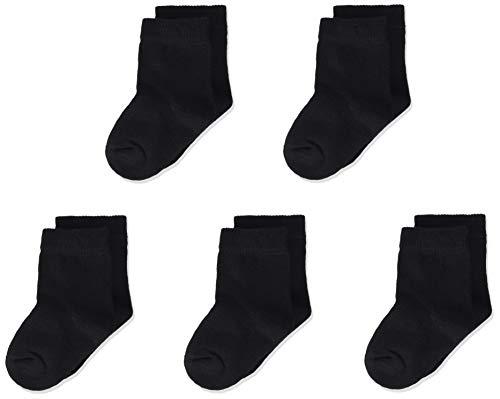 MINYMO Unisex Baby 5er Pack Ankel Socken, Schwarz (Schwarz 106), 19-22 (Herstellergröße:19)