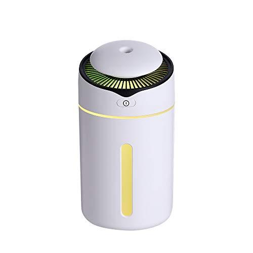 BIGMALL Tragbarer Mini-Luftbefeuchter, Schreibtisch-Luftbefeuchter, USB-Desktop-Luftbefeuchter Mit 7-Farben-LED-Nachtlicht, 300 Ml Wasserlose Automatische Abschaltung,A