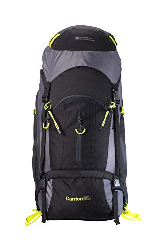 Mountain Warehouse Carrion 65L Rucksack - Soft Travel Backpack,...