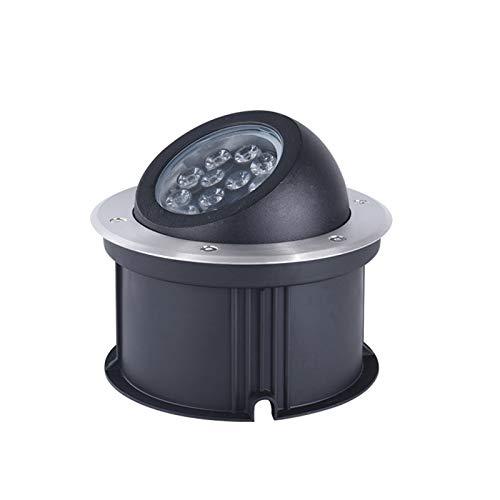 AWSAD Ángulo de iluminación Ajustable del Foco LED de 9-18W 12V, Luces subterráneas Impermeables integradas al Aire Libre, 7 Colores (Color : 9W, Size : B)