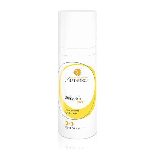 AESTHETICO clarify skin - Mattierende Feuchtigkeitspflege für Mischhaut, fettige Haut und Akne, leichte Gelcreme mit Salizylsubstanzen, 50 ml